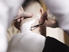 Straight razor is how you finish a haircut.
