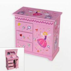 Mele & Co. Wood Musical Ballerina Jewelry Box