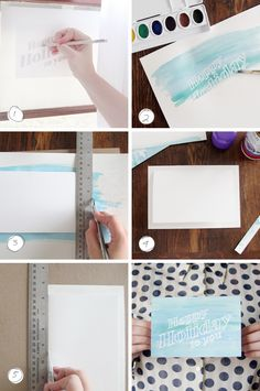 Watercolor resist card