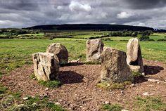 Knocknanierk stone circle, Co. Cork, Ireland (photo by Ken Williams)