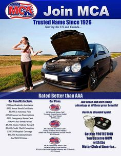 Trying to find a supreme Motor Club? Click below to get like those who signed up with Motor Club of America and profess cover me With MCA happily!