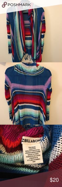 Billabong Cardigan Cute cardigan for spring! Never worn, size large Billabong Sweaters Cardigans