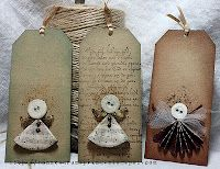 Angeltags cute on a card...xmas or sympathy...sending an angel to look over you!