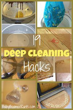 19 Household Deep Cleaning Hacks