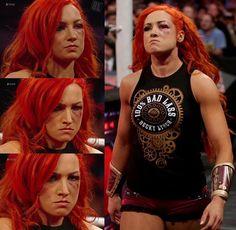 The look on her face says it all...! #RAW @beckylynchwwe #BeckyLynch #lasskicker…