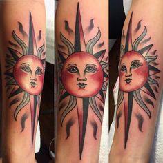 Stunningly Stars and Hot Sun Tattoos Sun Tattoo Tribal, Tribal Sun, Sun Tattoo Meaning, Tattoos With Meaning, Sun Tattoo Designs, Tattoo Designs And Meanings, Wild Tattoo, Get A Tattoo, Tattoo Art
