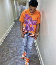 Dope Outfits For Guys, Swag Outfits Men, Summer Outfits Men, Outfits For Teens, Urban Fashion Women, Men Fashion, Black Man Haircut Fade, Black Men Street Fashion, Ripped Jeans Men