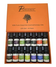 Another great find on #zulily! PURSONIC Pure Essential Aroma Oils - Set of 14 by PURSONIC #zulilyfinds