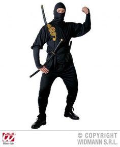 Guerriero Ninja. La casacca ricamata in oro e i dettagli ne fanno una travestimento curato.