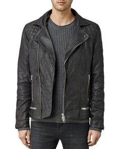 ALLSAINTS Conroy Leather Biker Jacket. #allsaints #cloth #jacket