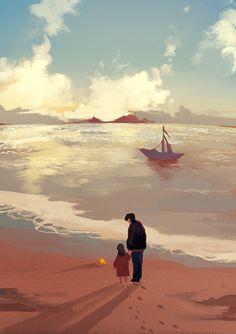 207/365 Fantasy Landscape, Landscape Art, Main Manga, Wallpaper Animes, Posca Art, Anime Scenery, Art Background, Aesthetic Art, Digital Illustration