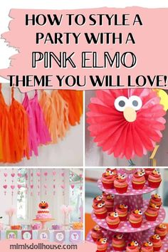 Ideas for a girly Elmo party. Looking for Elmo party ideas for girls? If your little girl loves all things Elmo, why not plan her an adorable and girly Elmo birthday? With pinks and pastels, you can turn that cute little red monster into an amazing party fit for a princess! Birthday Party Treats, 1st Birthday Party For Girls, 1st Birthday Party Decorations, Elmo Party, Elmo Birthday, Sesame Street Party, Sesame Street Birthday, Cookie Monster Party, Pastels