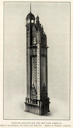 Historical Designs / Utopias / Monuments - Never built, Page 18 - SkyscraperCity - Skyscrapers/Towers/Architecture - Architecture Blueprints, Revival Architecture, Vintage Architecture, Urban Architecture, Architecture Drawings, Futuristic Architecture, Classical Architecture, Historical Architecture, Urban Design Concept