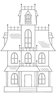 Spooky House Template | haunted house sketch here is a sketch of a house i want to make this ...