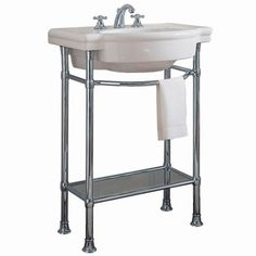 American Standard Retrospect Console Table with Bathroom Sink