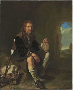 Frans van Mieris I (Leiden 1635-1681) A traveler at rest signed 'F. van Mieris'