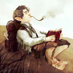 Pipe is his focus, his wand, smoke tricks, smoke takes shape of his spells making illusions and other spells. Hobbit Art, O Hobbit, Fantasy Character Design, Character Inspiration, Character Art, Art And Illustration, Character Sketches, Character Portraits, High Fantasy