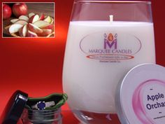 Apple Cinnamon Scented Marquee Candle