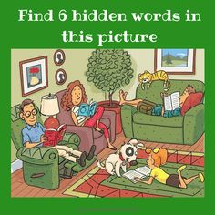 Find 6 hidden words in the picture 7 Answer Hidden Words In Pictures, Word Pictures, Picture Puzzles, Word Puzzles, Reto Mental, Riddles With Answers, Brain Teasers, Weird World, Wtf Funny