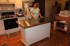 Very Large Kitchen Islands | Converting a Dresser into a Kitchen Island – Part 2