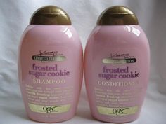 OGX Frosted Sugar Cookie (Limited Edition) Shampoo & Conditioner NEW Lot of 2 - Bonheurfitness Curly Hair Care, Natural Hair Care, Natural Hair Styles, Beauty Care, Beauty Skin, Beauty Hacks, Beauty Stuff, Sugar Cookie Frosting, Shampoo And Conditioner
