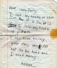 Funny Notes From Little Kids - mom.me