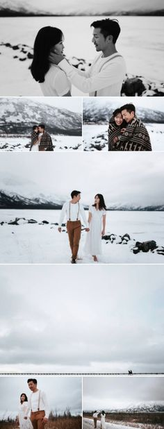 Romantic winter couple shoot with snowy landscapes | Photography by Hennygraphy