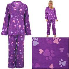 Purple Paws & Hearts Lightweight Pajama Set