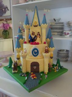 Camryn's Beauty and the Beast Castle Cake...6th birthday(2014)