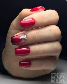 and Beautiful Nail Art Designs Fabulous Nails, Gorgeous Nails, Pretty Nails, Red Nail Art, Red Nails, Bright Nail Designs, Nail Art Designs, Nailed It, Nails Polish