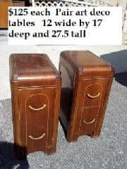 Vintage art deco pair of night stands, night table