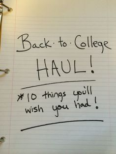 Back to College?  10 things you'll wish you had...great list! #BritaBackToCollege #ad