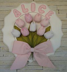 Porta de Maternidade para a chegada da Alice. Feito por Atelier da Dani