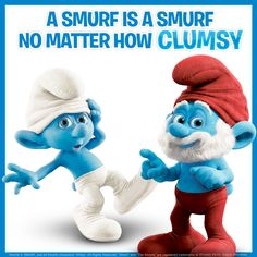 Meet Clumsy & Papa Smurf!  The Smurfs 2 in cinemas 2 August.