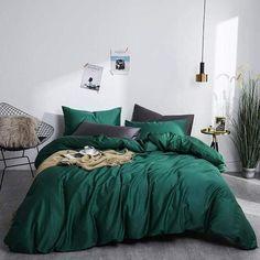 Cotton Bedding Sets, Duvet Sets, Bed Duvet Covers, Duvet Cover Sets, Green Duvet Covers, Green Comforter, Duvet Bedding, Bedding Shop, Green Rooms