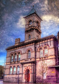 """County Dublin, Ireland """"Lombardo-Romanesque reminiscent of some of the work of Deane & Woodward"""" (Archiseek) Textures by Boccacino and Brenda Clarke. Irish Sea, Dublin City, Republic Of Ireland, Places Of Interest, Romanesque, Dublin Ireland, Town Hall, Northern Ireland, Old Photos"""