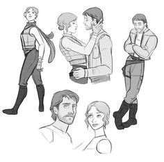 Cassian Andor & Jynammon roll sketches because its not like these two ruined my life or anything