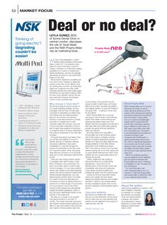 Deal or no deal? The Probe, May 2015 Marketing Tools, Clinic, Dental, Articles, Dentist Clinic