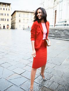 If you'd consider your style to be adventurous, try tonal color-blocking. This take on the trend makes it a little less scary than what it once was (read: when full-blown clashing was a thing)....