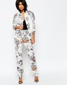 Image 1 of ASOS Soft Pant in Eastern Print Co-ord