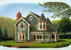 Elevation of Contemporary   Country   Farmhouse  Victorian   House Plan 90342