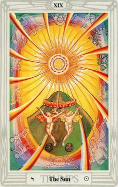 XIX - Le soleil - Tarot Thoth par Aleister Crowley