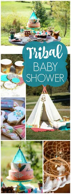 This tribal baby shower celebrates their Native American heritage! See more party ideas at CatchMyParty.com!