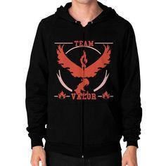 Team Valor Shirts Zip Hoodie (on man) Shirt