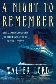 Small Book Club on Tuesday, April 10, 2012 - 10:30 am and  Wednesday, April 11, 2012 - 7:30 pm at Eastern Branch. This month's selection, A Night to Remember by Walter Lord.
