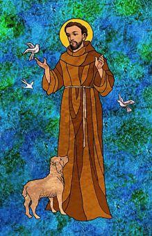 Dia 04 de outubro – Dia de São Francisco de Assis, o patrono da Ecologia! Catholic Art, Catholic Saints, Religious Art, St Francisco, St Pio Of Pietrelcina, St Clare's, Francis Of Assisi, Sacred Art, Colorful Drawings