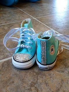 Personalized Bead Bling CONVERSE Chuck Taylor Sneakers. $67.00, via Etsy.