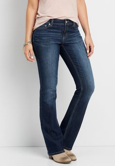 Clothing, Shoes & Accessories Enthusiastic J Crew Bootcut Jeans Size 28r Bootcut Stretch Dark Wash Womens Harmonious Colors