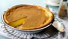 #Milk tart. A South African favourite, brought here by the Dutch. Lovely #recipe via #FreshLiving magazine.