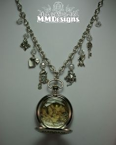 'Alice In Wonderland - Tea Party' Pocketwatch Necklace by MMDesigns.